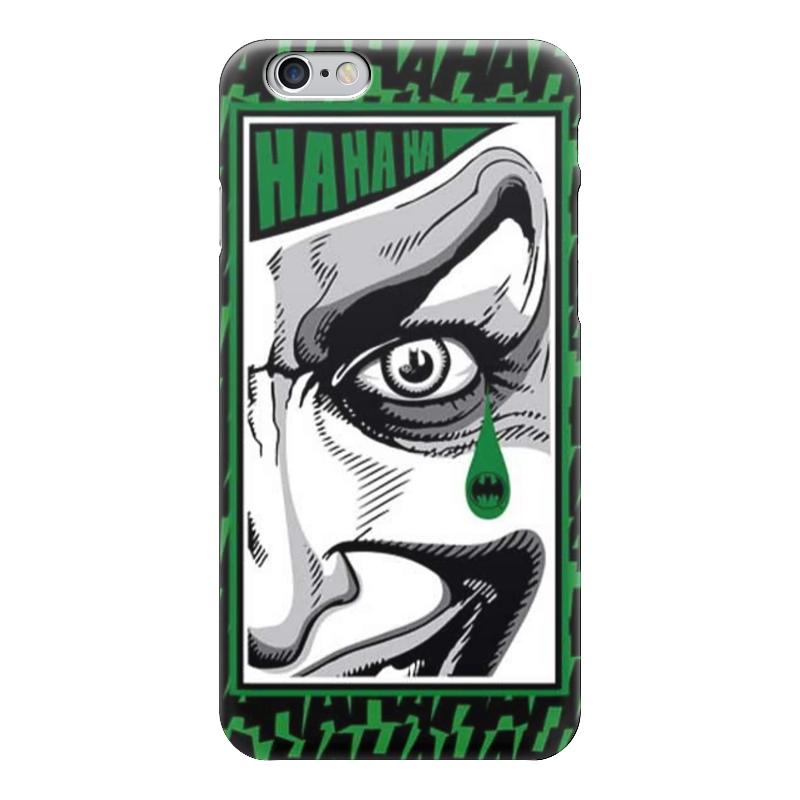 Чехол для iPhone 6 глянцевый Printio Batman teardrop - the joker лонгслив printio batman x joker