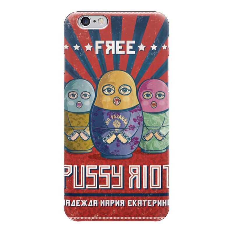 Чехол для iPhone 6 глянцевый Printio Pussy riot riot points яндекс деньги