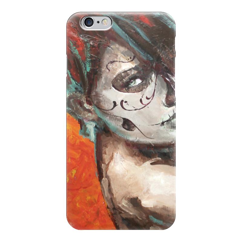 Чехол для iPhone 6 глянцевый Printio Skull girl чехол для iphone 6 глянцевый printio red girl