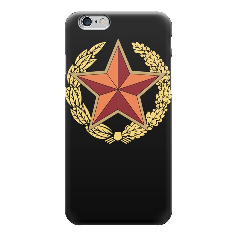 Чехол для iPhone 6 глянцевый Printio Красная звезда чехол для iphone 6 глянцевый printio барселона на айфон 6 6s
