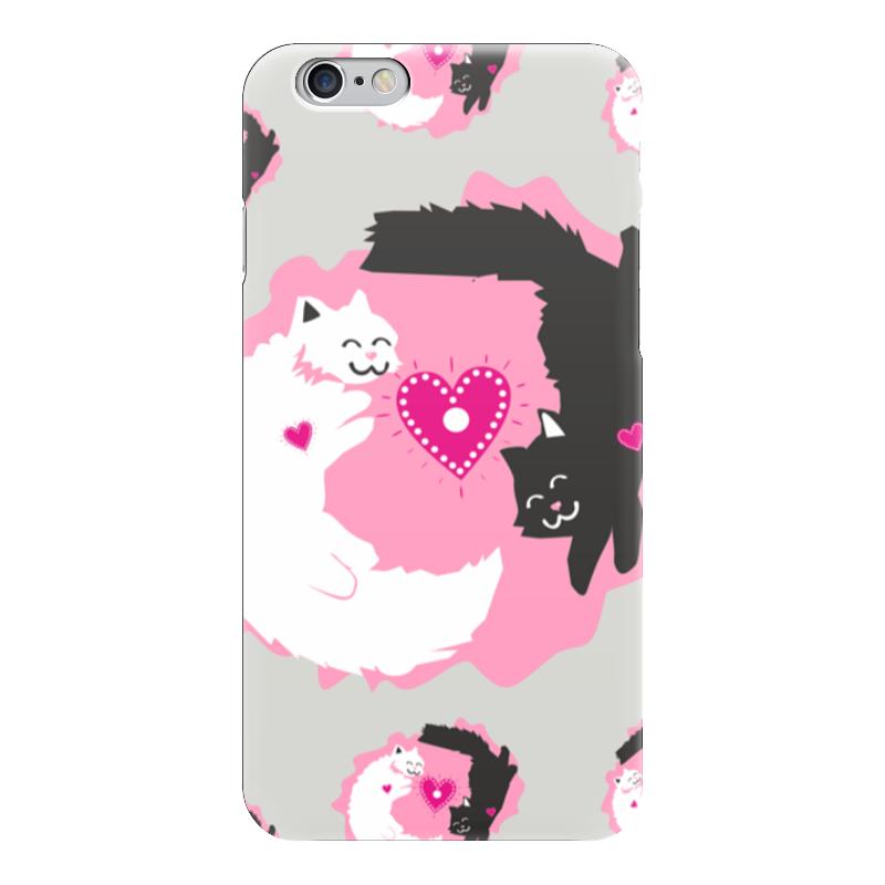 Чехол для iPhone 6 глянцевый Printio Влюбленные коты чехол для iphone 6 глянцевый printio влюбленные пьер огюст ренуар