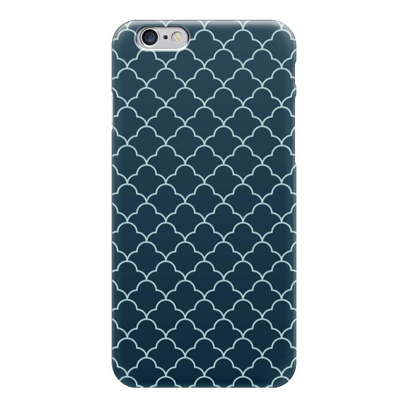 Чехол для iPhone 6 глянцевый Printio Абстрактный чехол для карточек пионы на синем фоне дк2017 113