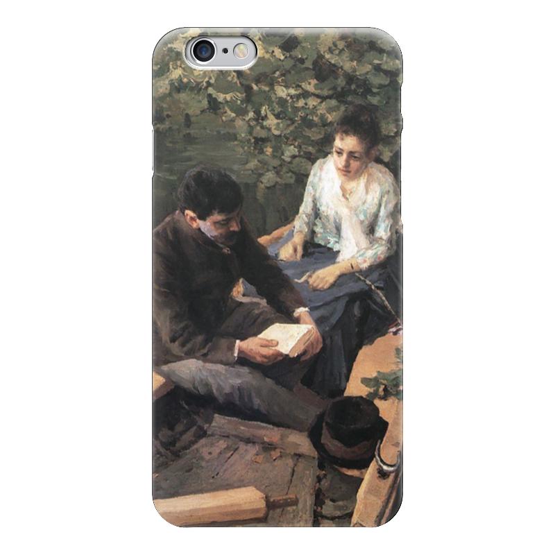 Чехол для iPhone 6 глянцевый Printio В лодке (картина коровина)