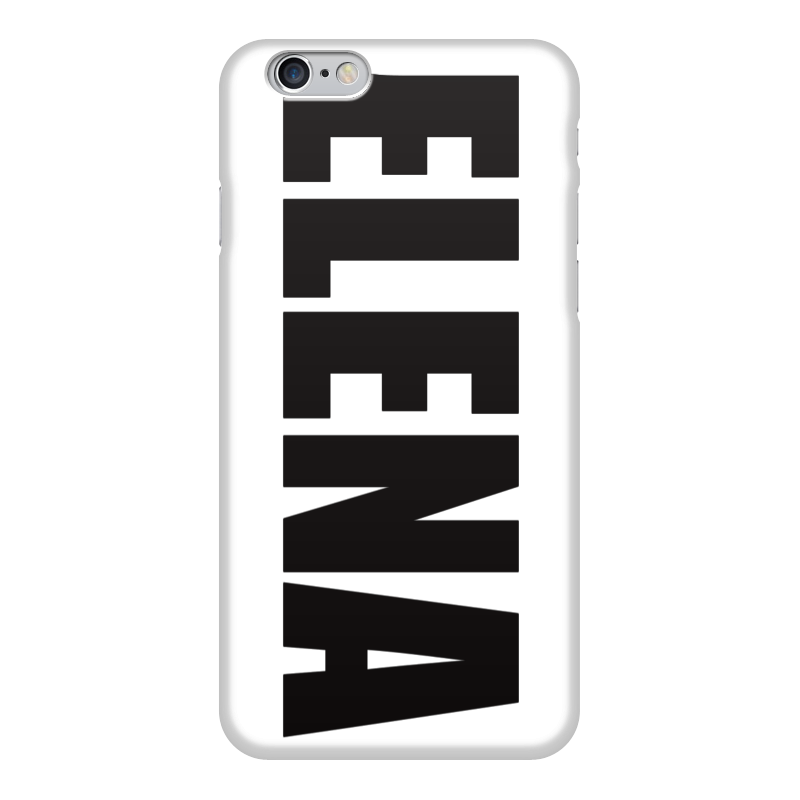 Чехол для iPhone 6 глянцевый Printio С именем елена