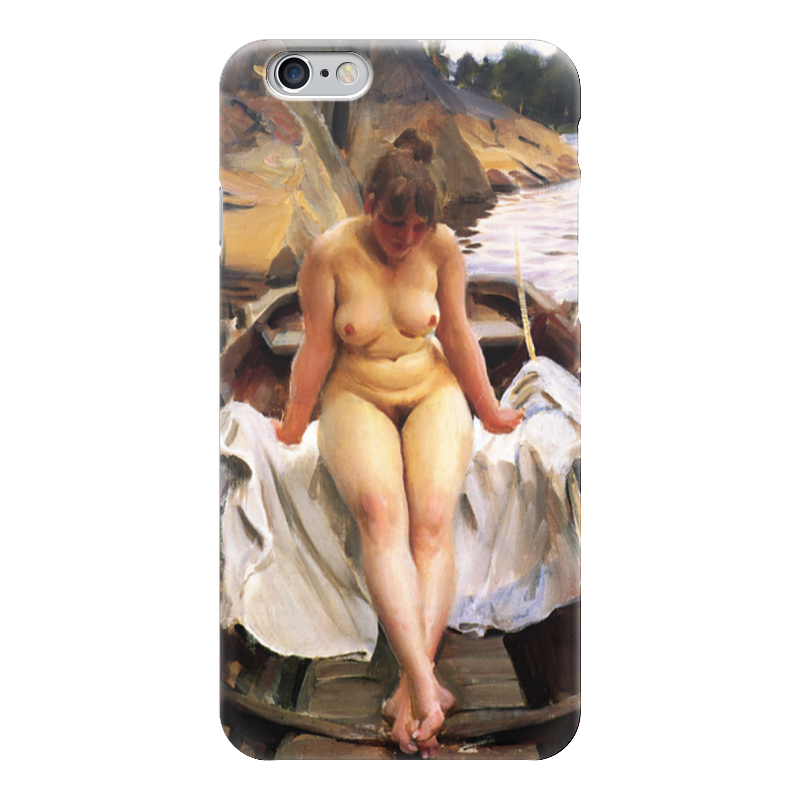 Чехол для iPhone 6 глянцевый Printio Woman in the boat the woman in the photo