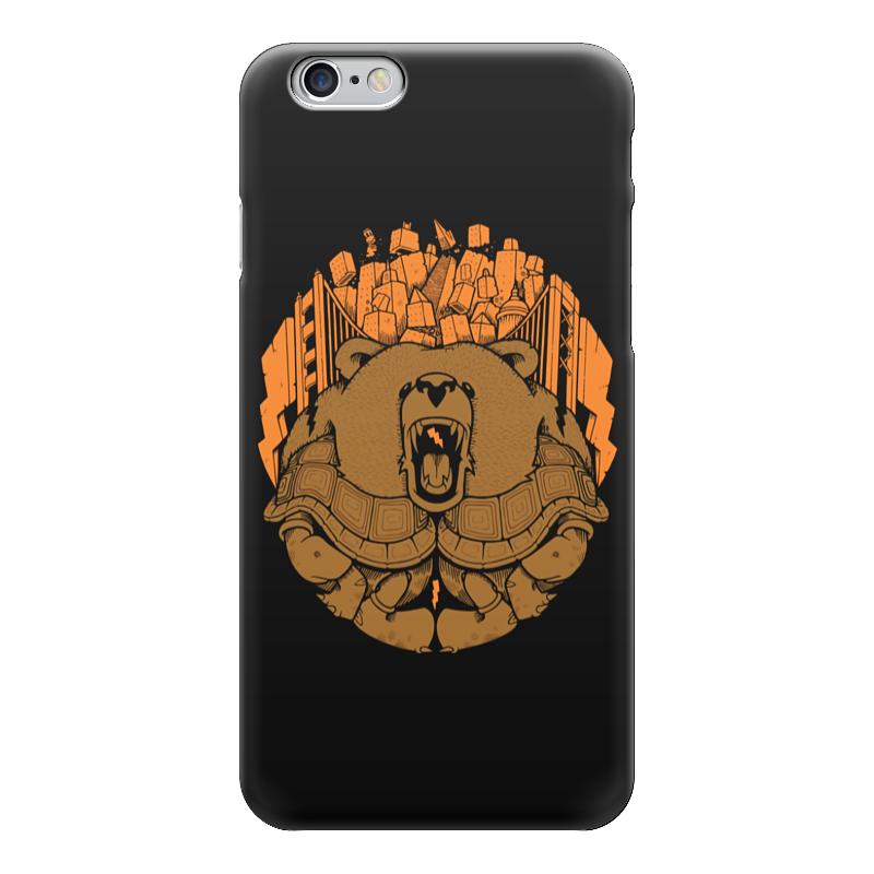 Чехол для iPhone 6 глянцевый Printio Bear city / медведь лонгслив printio bear beer медведь и мед