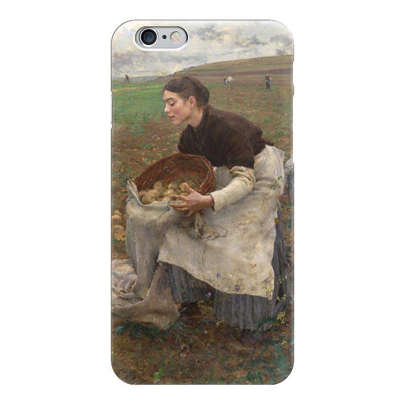 Чехол для iPhone 6 глянцевый Printio Октябрь. сбор картофеля винтовой нож для картофеля
