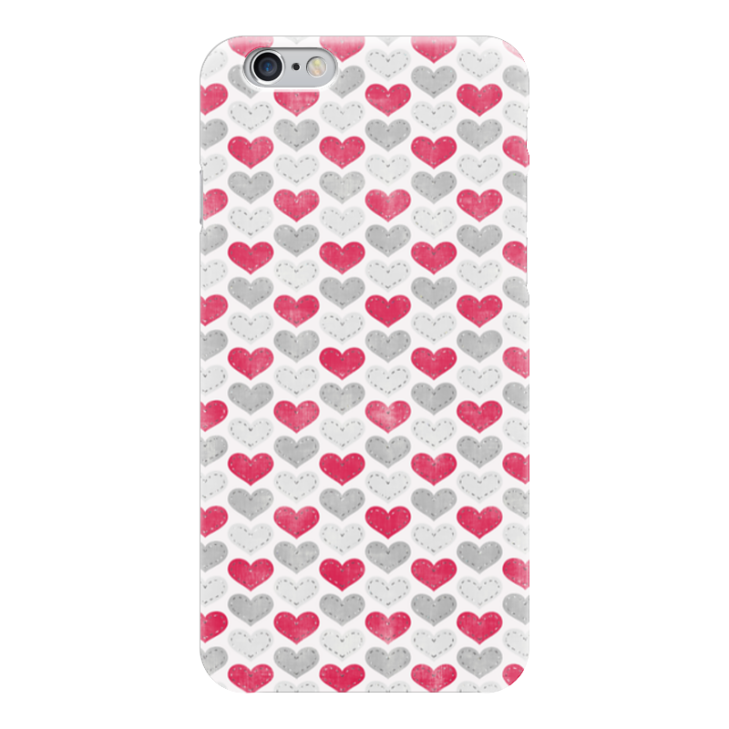Чехол для iPhone 6 глянцевый Printio с разноцветными сердечками