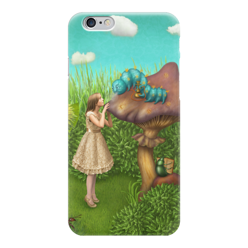 Чехол для iPhone 6 глянцевый Printio Алиса в стране чудес