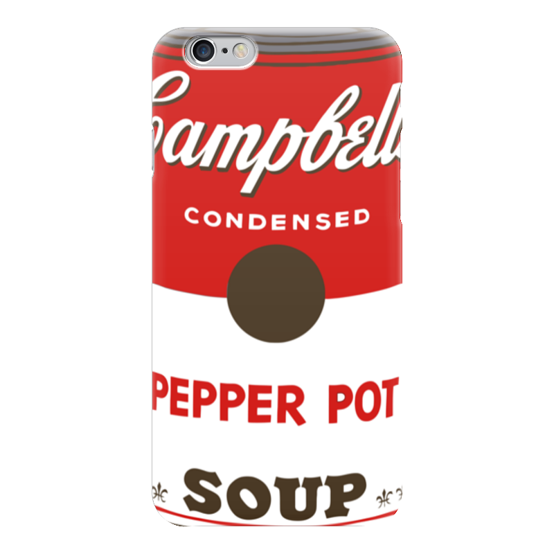 Чехол для iPhone 6 глянцевый Printio Campbell's soup (энди уорхол)