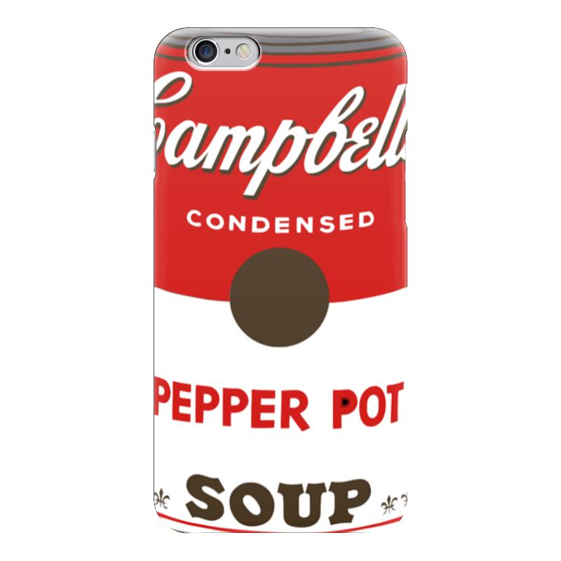 Чехол для iPhone 6 глянцевый Printio Campbell's soup (энди уорхол) футболка wearcraft premium printio campbell s soup энди уорхол