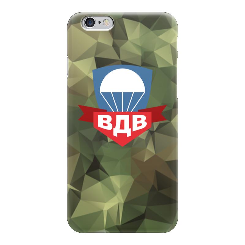 Чехол для iPhone 6 глянцевый Printio Воздушно-десантные войска флаг пограничных войск россии великий новгород