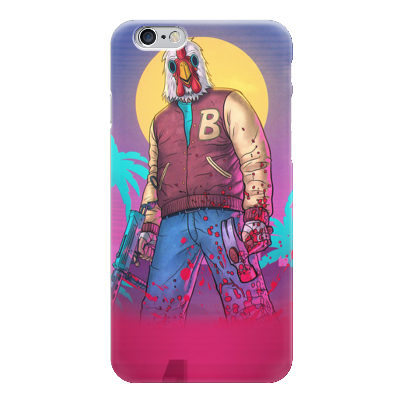 Чехол для iPhone 6 глянцевый Printio Hotline miami richard