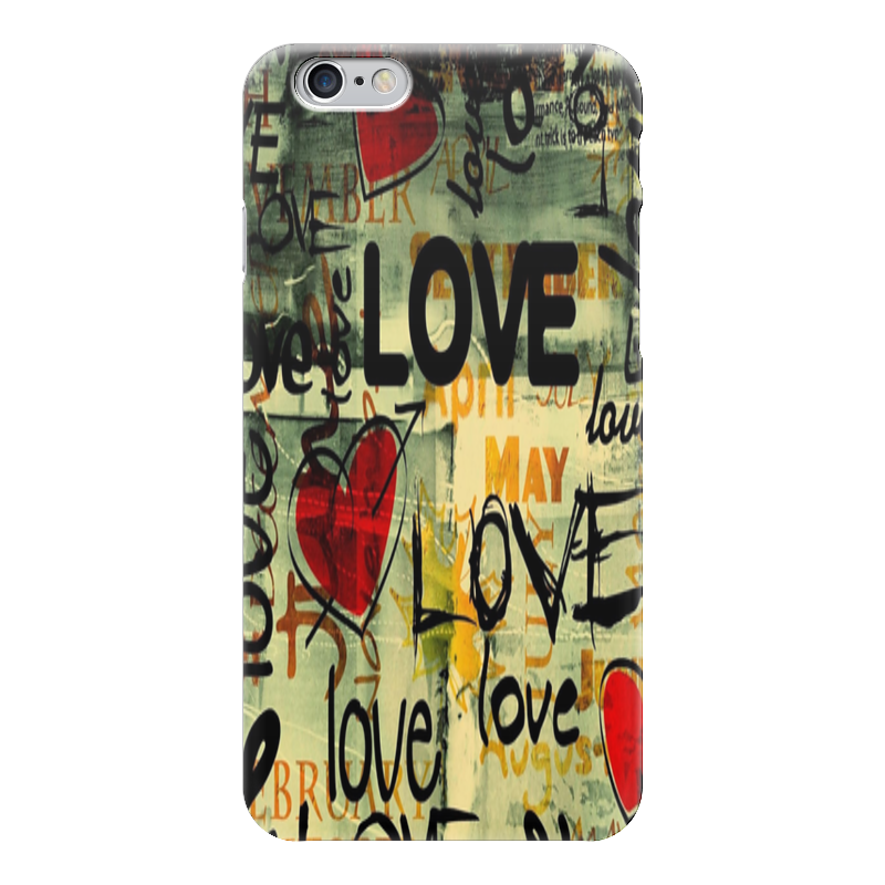 Чехол для iPhone 6 глянцевый Printio Love. чехлы для телефонов with love moscow силиконовый дизайнерский чехол для meizu m3s перья