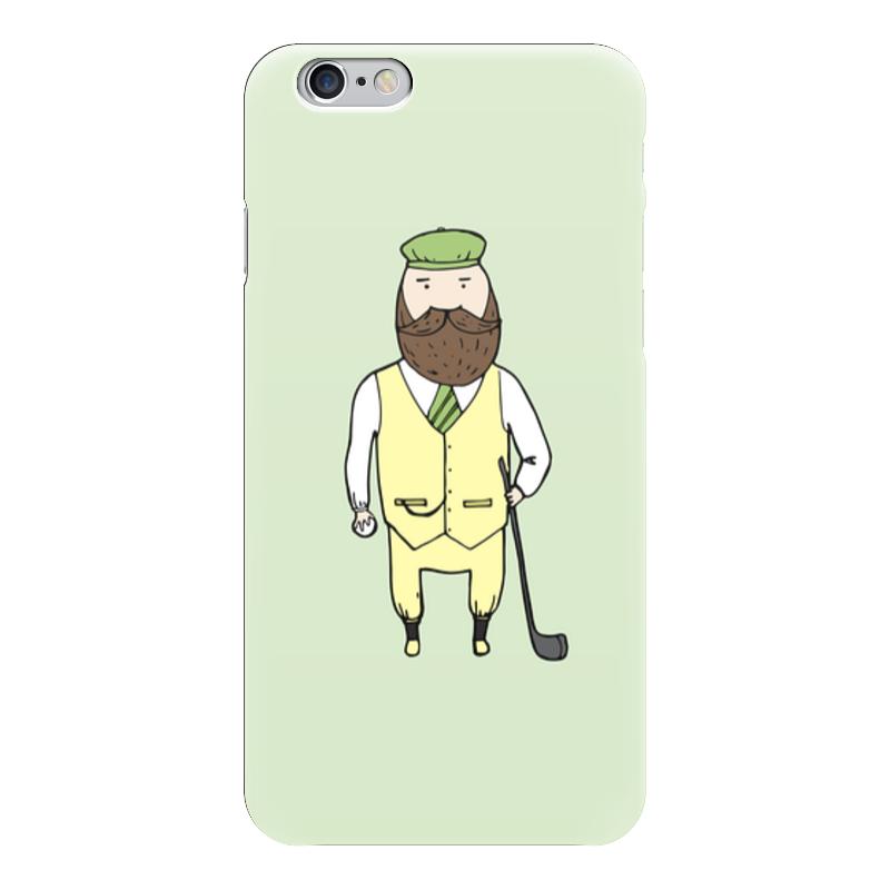 Чехол для iPhone 6 глянцевый Printio Джентльмен с клюшкой для гольфа чехол для samsung galaxy note printio джентльмен с клюшкой для гольфа