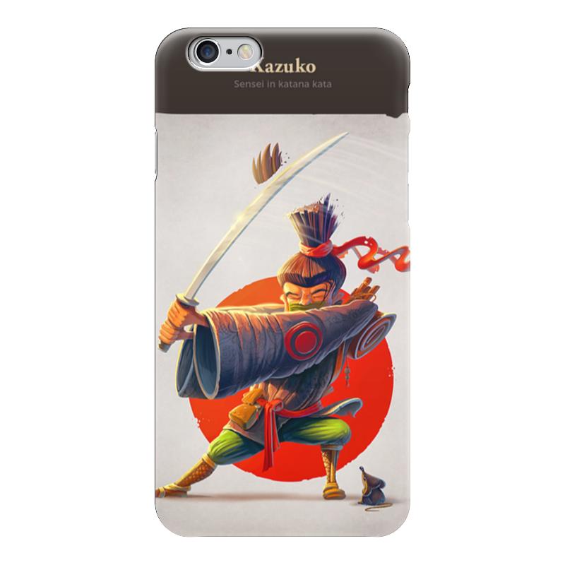 Чехол для iPhone 6 глянцевый Printio Кадзуко сенсей в катана ката