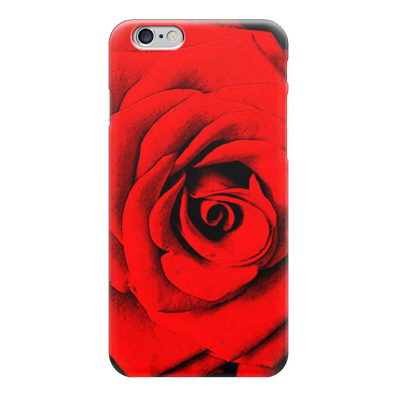 Чехол для iPhone 6 глянцевый Printio Красная роза 3d головоломка роза красная 90113