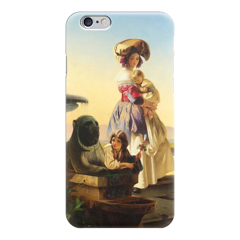 Чехол для iPhone 6 глянцевый Printio Молодая мать чехол для iphone 6 глянцевый printio молодая женщина в соломенной шляпе