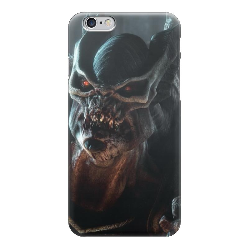 Чехол для iPhone 6 глянцевый Printio Монстр (hellgate) чехол для карточек монстр фиолетовый дк2017 105