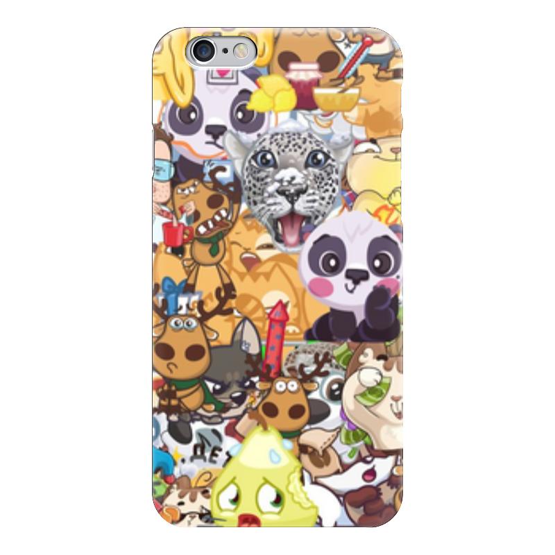 Чехол для iPhone 6 глянцевый Printio Стикерs стоимость