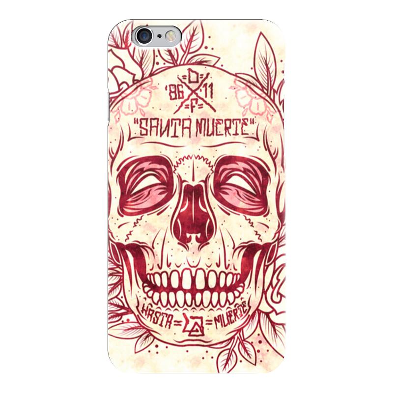 Чехол для iPhone 6 глянцевый Printio Santa muerte skull чехол для iphone 7 глянцевый printio skull art