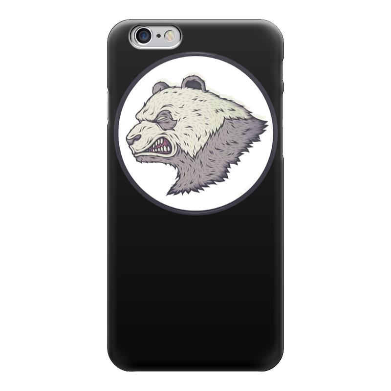 Чехол для iPhone 6 глянцевый Printio Angry panda / злая панда