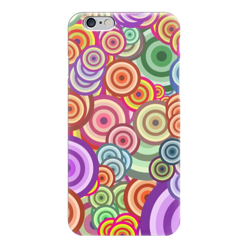 Чехол для iPhone 6 глянцевый Printio Цветные круги