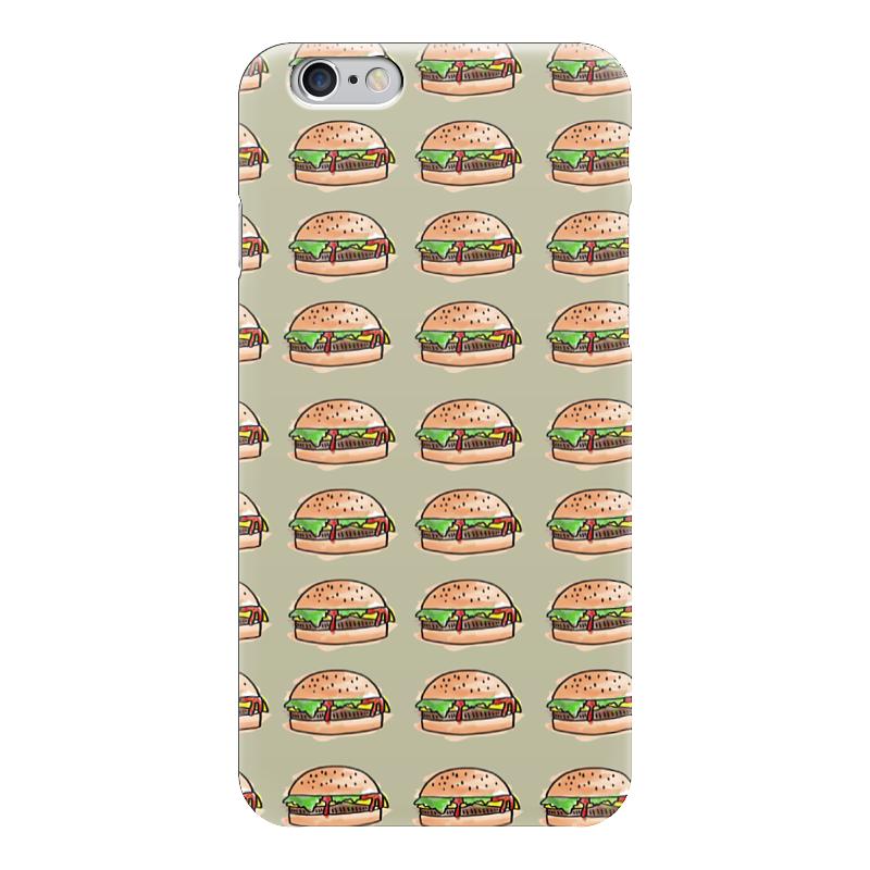 Чехол для iPhone 6 глянцевый Printio I love burgers! чехол для iphone 5 глянцевый с полной запечаткой printio i love kill