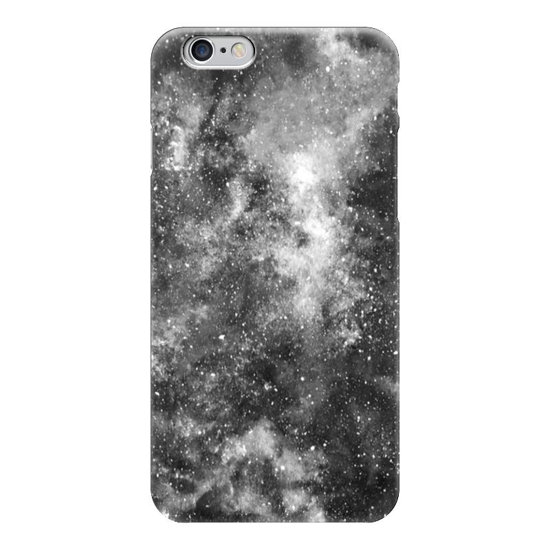 Чехол для iPhone 6 глянцевый Printio Космос (черно-белый)