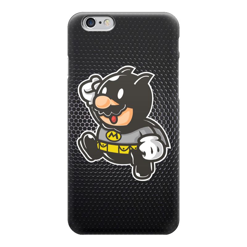 где купить Чехол для iPhone 6 глянцевый Printio Mario x batman по лучшей цене