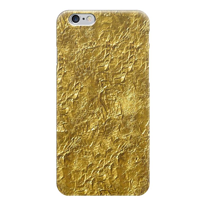 фольга Чехол для iPhone 6 глянцевый Printio Золотая фольга