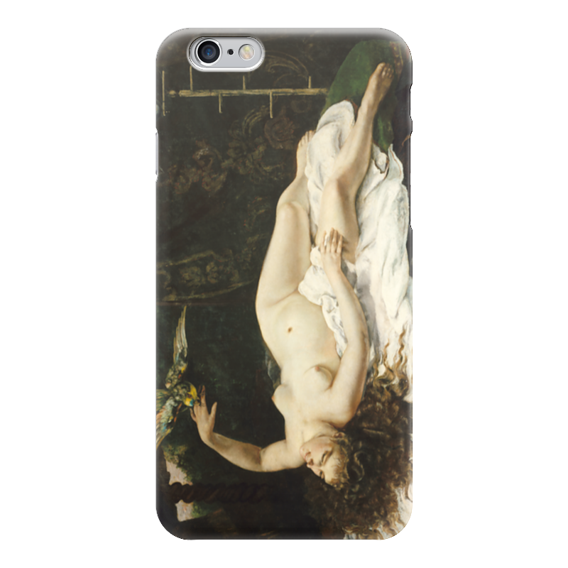 Чехол для iPhone 6 глянцевый Printio Женщина с попугаем (картина курбе) чехол для iphone 6 глянцевый printio молодая женщина в соломенной шляпе