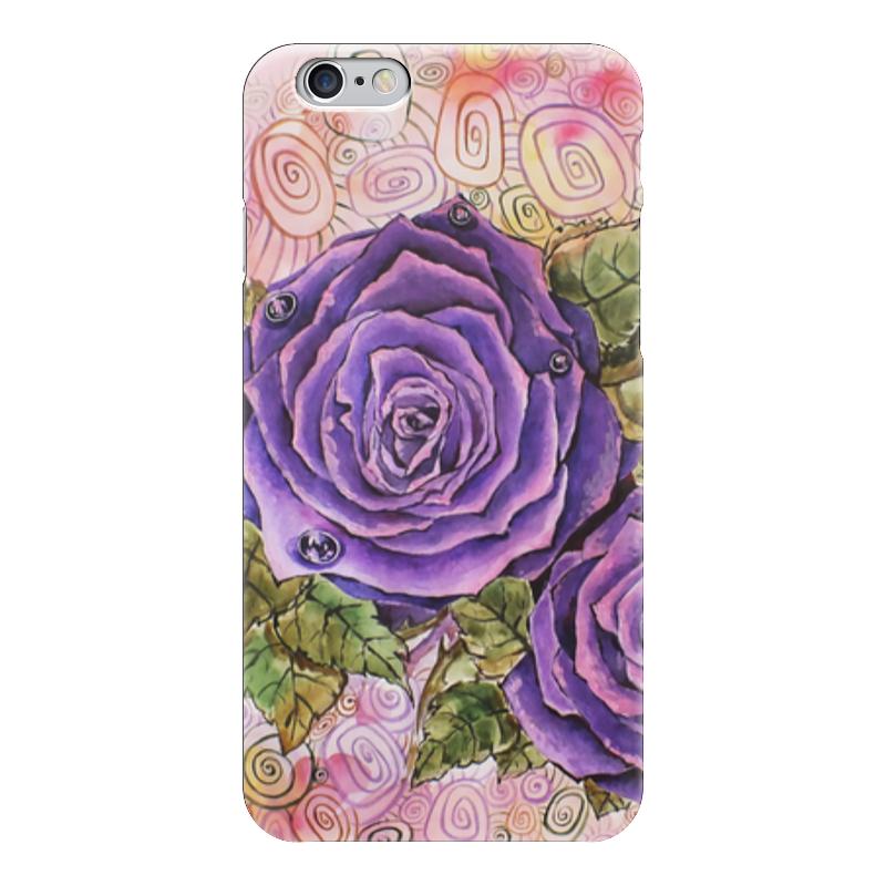 Чехол для iPhone 6 глянцевый Printio Сиреневые розы кружка цветная внутри printio сиреневые розы