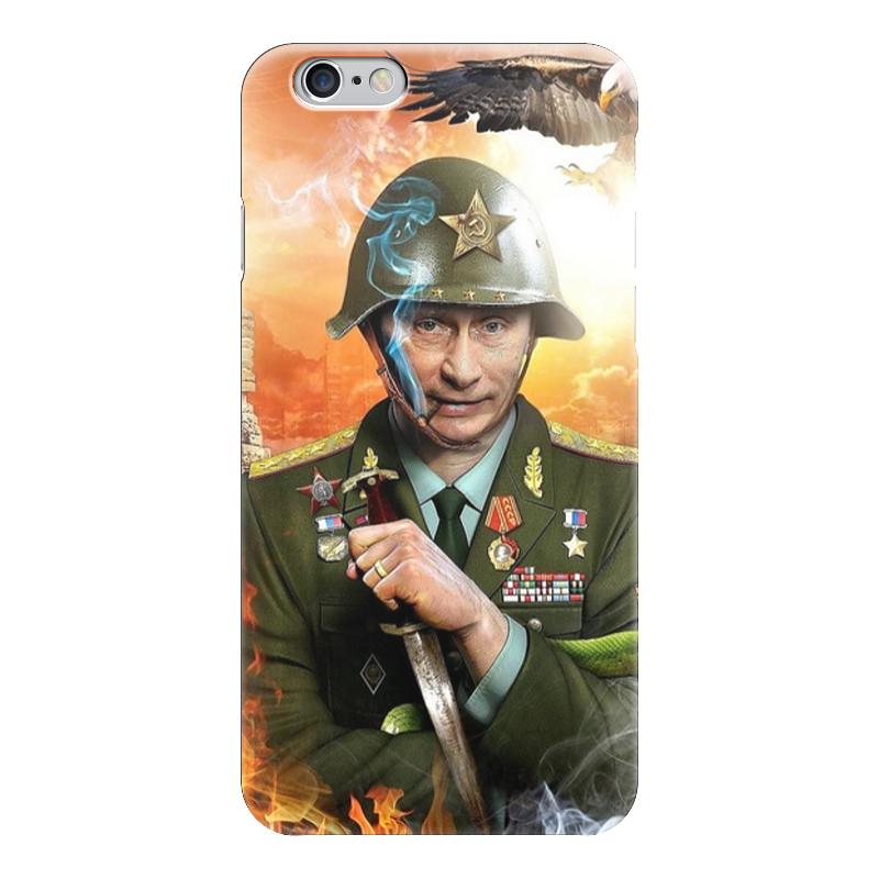 Чехол для iPhone 6 глянцевый Printio Путин чехол для iphone 5 глянцевый с полной запечаткой printio альтрон ultron