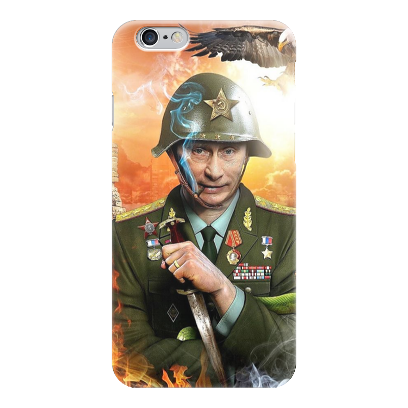 Чехол для iPhone 6 глянцевый Printio Путин чехол для iphone 5 глянцевый с полной запечаткой printio винтаж
