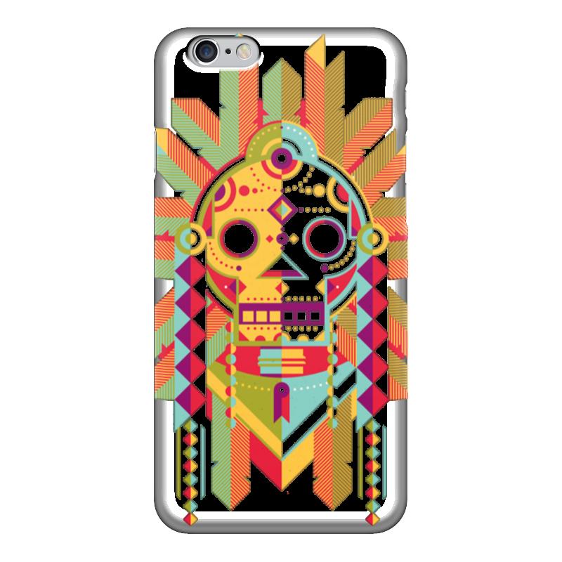 Чехол для iPhone 6 глянцевый Printio Indian skull чехол для iphone 7 глянцевый printio skull art