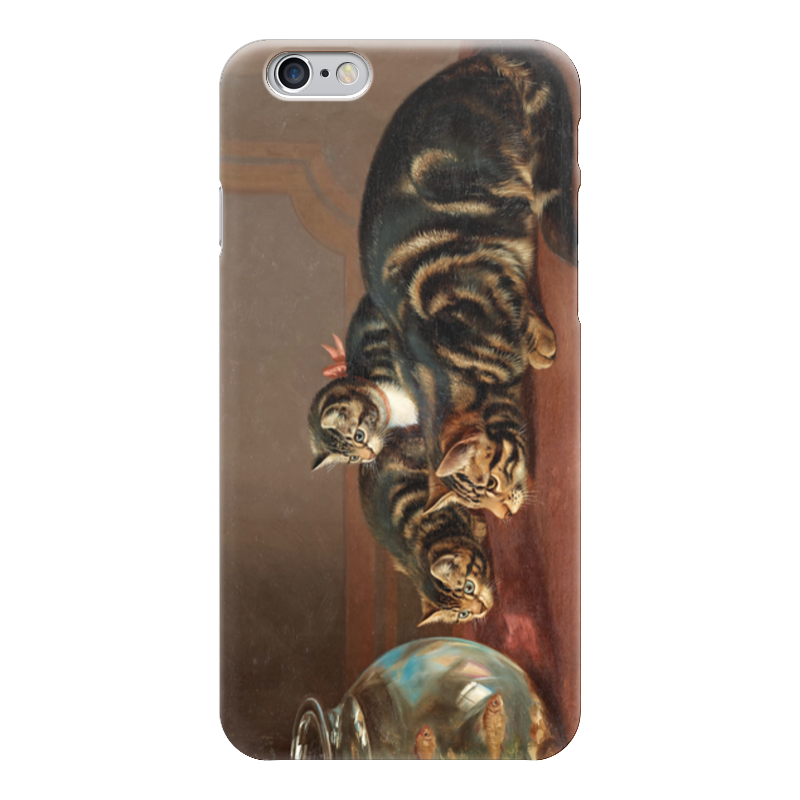 Чехол для iPhone 6 глянцевый Printio Cats by a fishbowl чехол для карточек who let the cats out дк2017 095