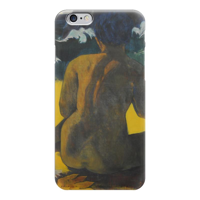 Чехол для iPhone 6 глянцевый Printio Woman on the beach (картина поля гогена)