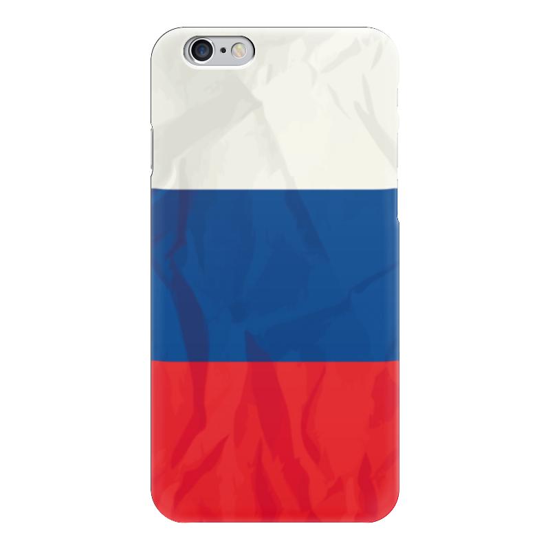 Чехол для iPhone 6 глянцевый Printio Флаг россии (russia) какой iphone лучше для россии
