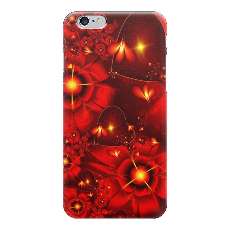 Чехол для iPhone 6 глянцевый Printio Красные цветы чехол для iphone 6 глянцевый printio сад на улице корто сад на монмартре ренуар