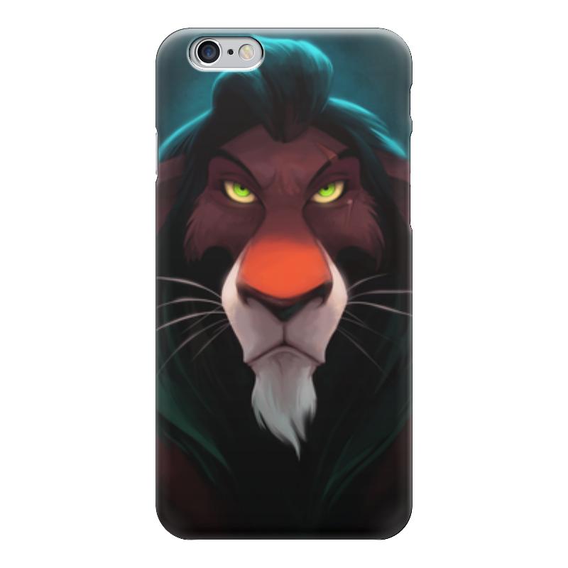 Чехол для iPhone 6 глянцевый Printio Шрам (король лев) обложка для паспорта printio король лев