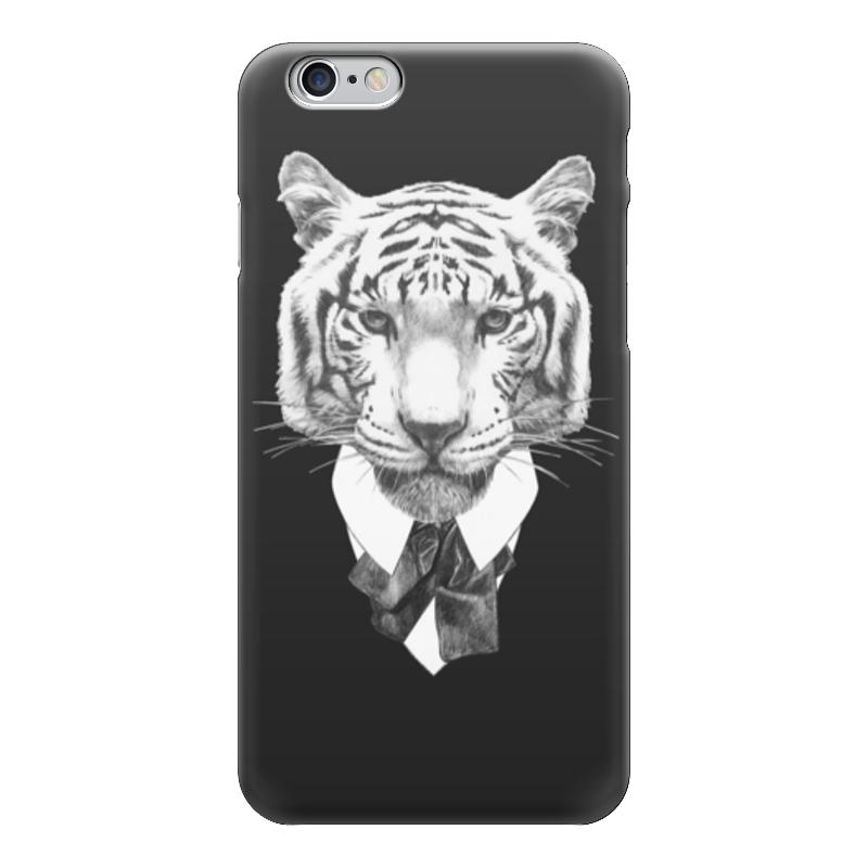Чехол для iPhone 6 глянцевый Printio Черно-белый тигр
