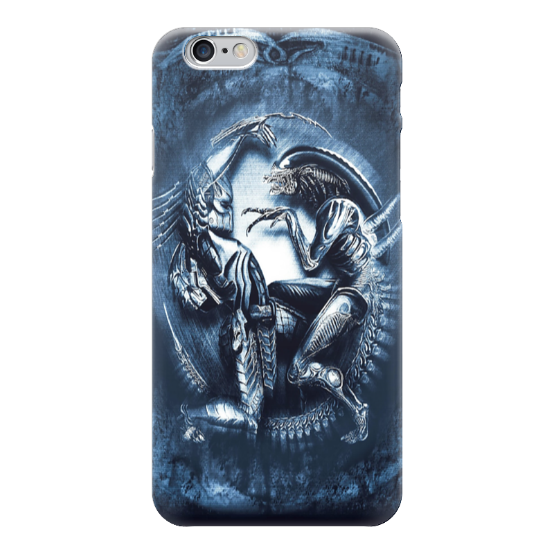 Чехол для iPhone 6 глянцевый Printio Чужой против хищника / alien vs predator saintgi avp predator 2 alien colonial marines hunter primevil the pvc movie game cute action figure collection gifts toys neca
