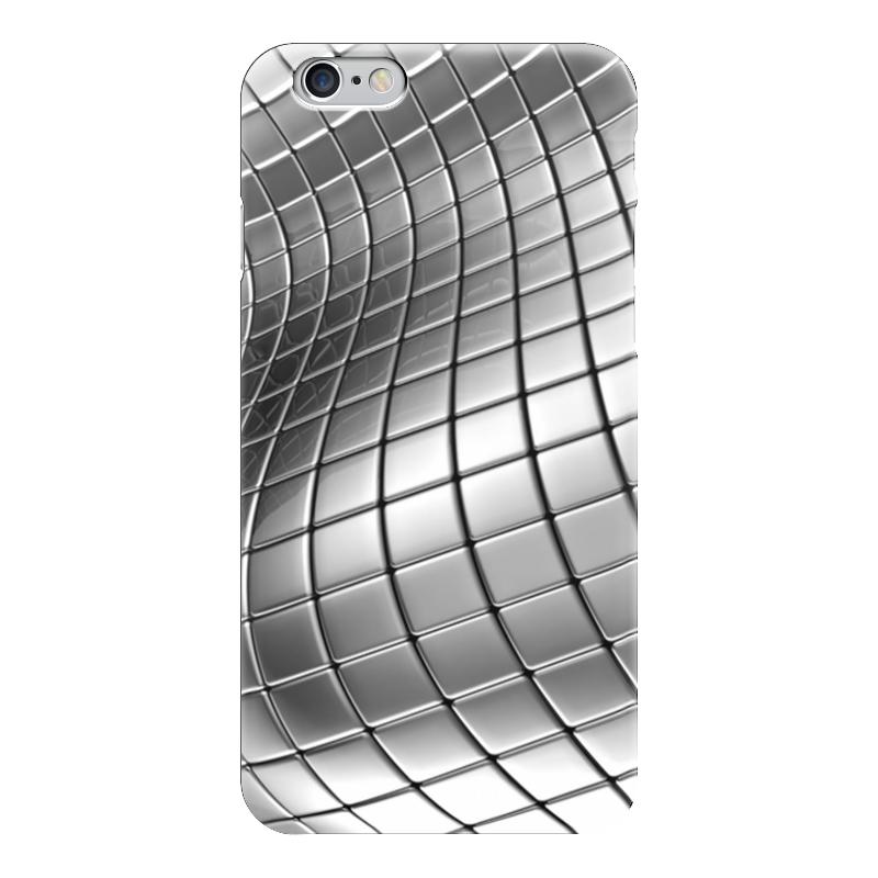 Чехол для iPhone 6 глянцевый Printio Металлические пластины