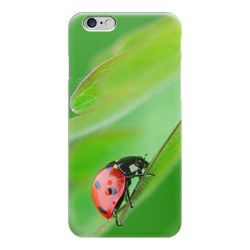 Чехол для iPhone 6 глянцевый Printio Божья коровка