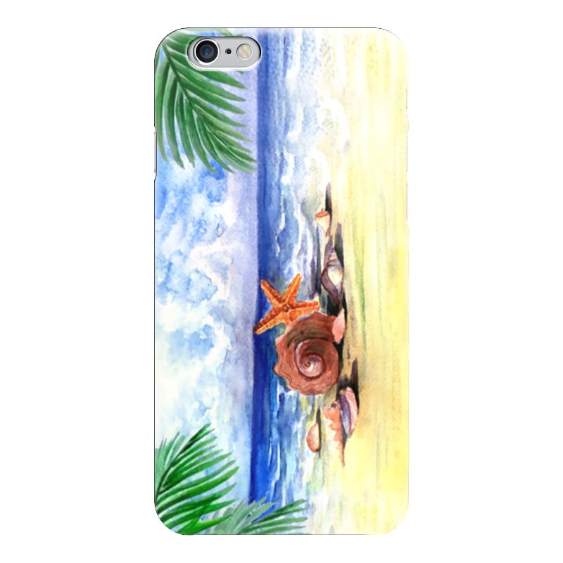 Чехол для iPhone 6 глянцевый Printio Пляжный плед пляжный karabuk