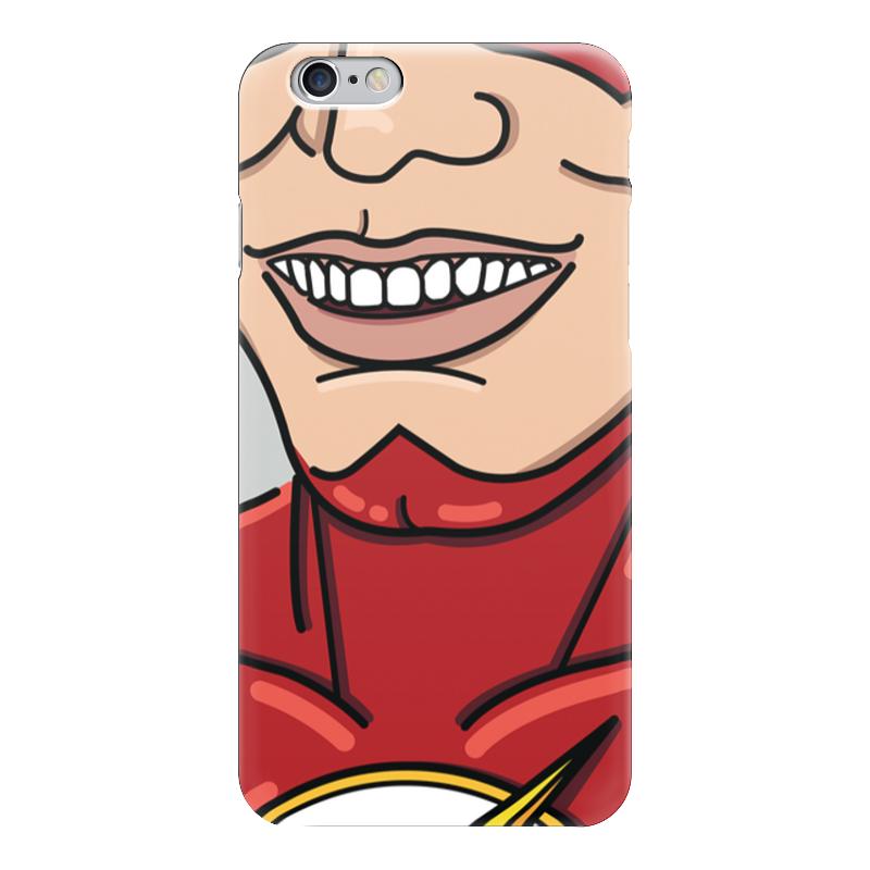 Чехол для iPhone 6 глянцевый Printio Smiling flash спортинвентарь nike чехол для iphone 6 на руку nike vapor flash arm band 2 0 n rn 50 078 os
