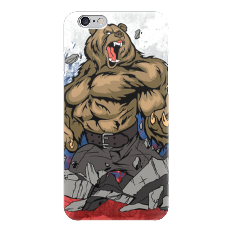 Чехол для iPhone 6 глянцевый Printio Русский медведь (russian bear) лонгслив printio bear beer медведь и мед