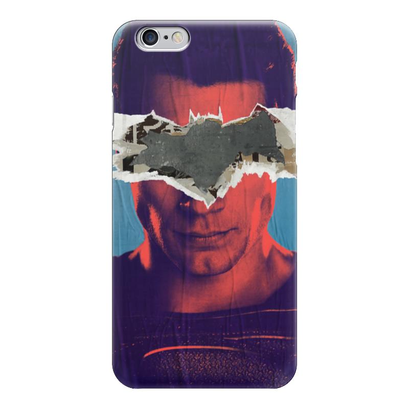 Чехол для iPhone 6 глянцевый Printio Бэтмен против супермена чехол для iphone 4 глянцевый с полной запечаткой printio бэтмен
