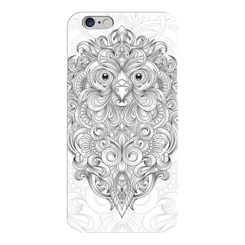 Чехол для iPhone 6 глянцевый Printio Сова с узорами чехол для карточек хамелеон с узорами дк2017 111